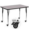 Flash Furniture Mobile Rectangular Classroom Table
