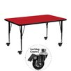 Flash Furniture Mobile Rectangular Classroom Table