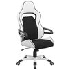Flash Furniture High Back Vinyl Executive Swivel Chair with Fabric Inserts