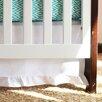 Oliver B Pure White Gathered Crib Skirt