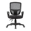 Antique Revival Victoria Mid-Back Mesh Task Chair with Arms