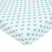 American Baby Company Percale Polka Dot Fitted Crib Sheet