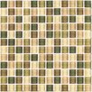 "Interceramic Shimmer Blends 1"" x 1"" Ceramic Mosaic Tile in Foliage"