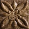 """Marazzi Romancing the Stone 2"""" x 2"""" Compressed Stone Floral Insert in Noce (Set of 3)"""