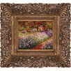 Tori Home Artist's Garden at Giverny Monet Framed Original Painting