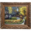 Tori Home In the Garden by Claude Monet Framed Painting Print