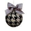 Tori Home Pied-A-Poule Glass Ball Christmas Ornament