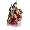 Tori Home Religious Holy Family Mary Joseph and Jesus Glass Nativity Christmas Ornament