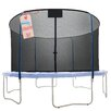 Upper Bounce 14' Round Replacement Trampoline Safety Net Using 4 Curved Poles