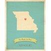 Children Inspire Design My Roots Missouri Personalized Map Paper Print