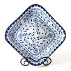 Le Souk Ceramique Azoura Design Square Serving Bowl
