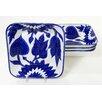 Le Souk Ceramique Jinane Square Pasta / Salad Bowl (Set of 4)