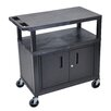 Luxor Fixed Height Presentation Cart with Cabinet