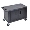 Luxor Utility Cart with 3 Shelves and Cabinet