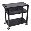 Luxor Presentation Cart with 3 Shelves and Drawer