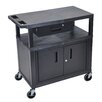 Luxor Utility Cart with 3 Shelves Cabinet and Drawer