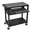 Luxor Presentation Cart with 4 Shelves and Pullout Shelf