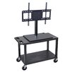 Luxor Mobile Cart with Universal LCD TV Mount