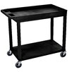 Luxor E Series Utility Cart with 1 Tub/1 Flat Shelves