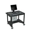 Luxor High Workstation with Leg Room Cut-Out