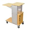 Luxor Mobile Presentation Station with Casters and Cabinet