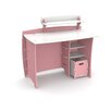 """Legare Furniture Princess 43"""" Writing Desk with Accessory Shelves and File Cart"""