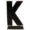 Groovystuff Moonshine Metal Letters K on a Stand Letter Block