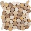 Emser Tile Random Sized Travertine Pebble Tile in Beig/Mocha