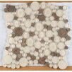 Emser Tile Lucente Random Sized Glass Pebble Tile in Lido