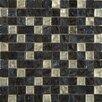 Emser Tile Vista Glass Mosaic Tile in Black and Gray