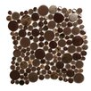 Emser Tile Lucente Vetro Random Sized Glass Pebble Tile in Brown