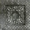 "Emser Tile Camelot 4"" x 4"" Igraine Deco in Silver"