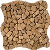Emser Tile Natural Stone Random Sized Travertine Mosaic Tile in Mocha