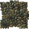 Emser Tile Natural Stone Rivera Random Sized Marble Pebble Tile in Green