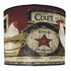 Illumalite Designs Hen and Rooster Drum Lamp Shade