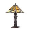 """Chloe Lighting Mission 23.6"""" H Table Lamp with Cone Shade"""