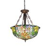 Chloe Lighting Flora 3 Light Inverted Ceiling Pendant