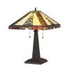 """Chloe Lighting Mission 22.53"""" H Table Lamp with Empire Shade"""
