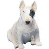 Sandicast Original Size White/Spot Bull Terrier Sculpture