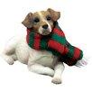 Sandicast Lying Jack Russell Terrier Christmas Ornament