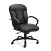 Offices To Go Luxhide Leather Executive Chair with Arms