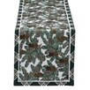 Design Imports Lodge Pinecone Tapestry Table Runner