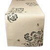 Design Imports Busy Bees Embroidered Table Runner