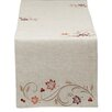Design Imports Autumn Wheat Embroidered Table Runner