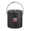 Kraftware Collegiate 3 Qt. Ice Bucket with Thick Leatherette Lid
