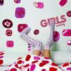 Brewster Home Fashions Euro Freestyle Girl's Only Wall Decal