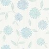 "Brewster Home Fashions Kitchen & Bath Resource III Davenport Modern 33' x 20.5"" Floral Embossed Wallpaper"