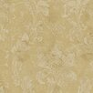 "Brewster Home Fashions Artistic Illusion Irena Delicate 33' x 20.5"" Floral Embossed Wallpaper"