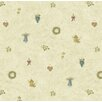 "Brewster Home Fashions Borders by Chesapeake Mazy Hearts Dolls Tosst 16.5' x 20.5"" Wallpaper"