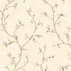 """Brewster Home Fashions Pure Country 33' x 20.5"""" Felicia Star Berry Vine Floral Embossed Wallpaper"""